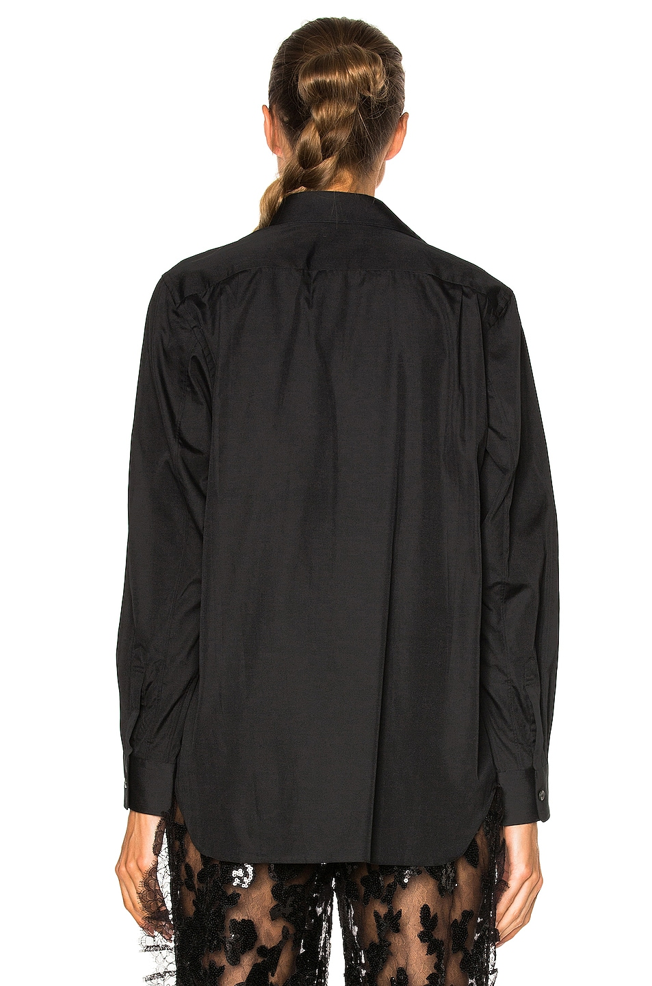Image 4 of Comme Des Garcons PLAY Black Emblem Cotton Button Down in Black