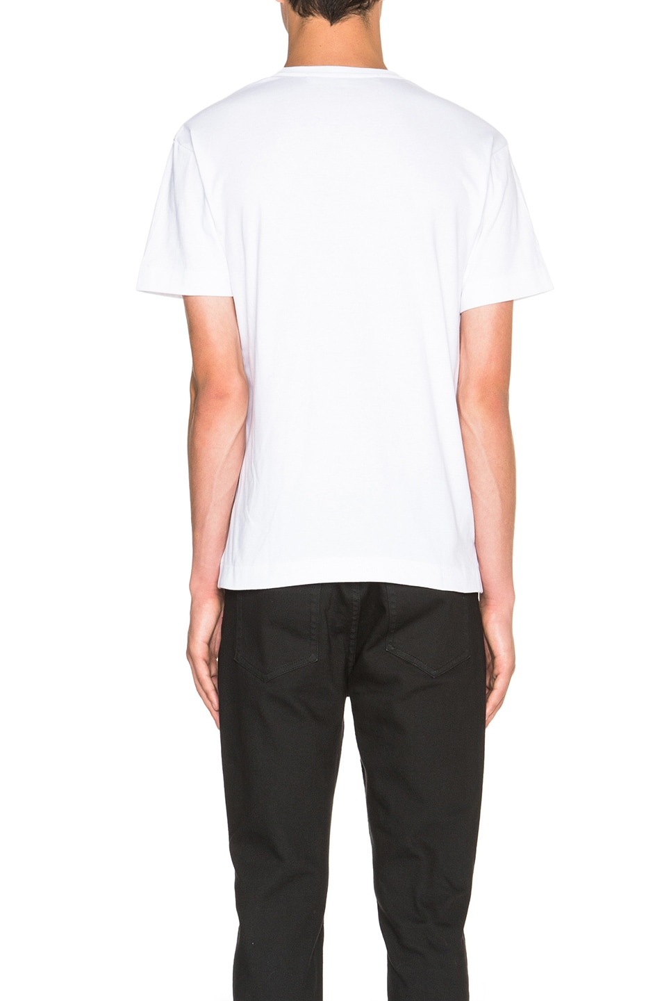 Image 4 of Comme Des Garcons PLAY Gold Emblem Tee in White