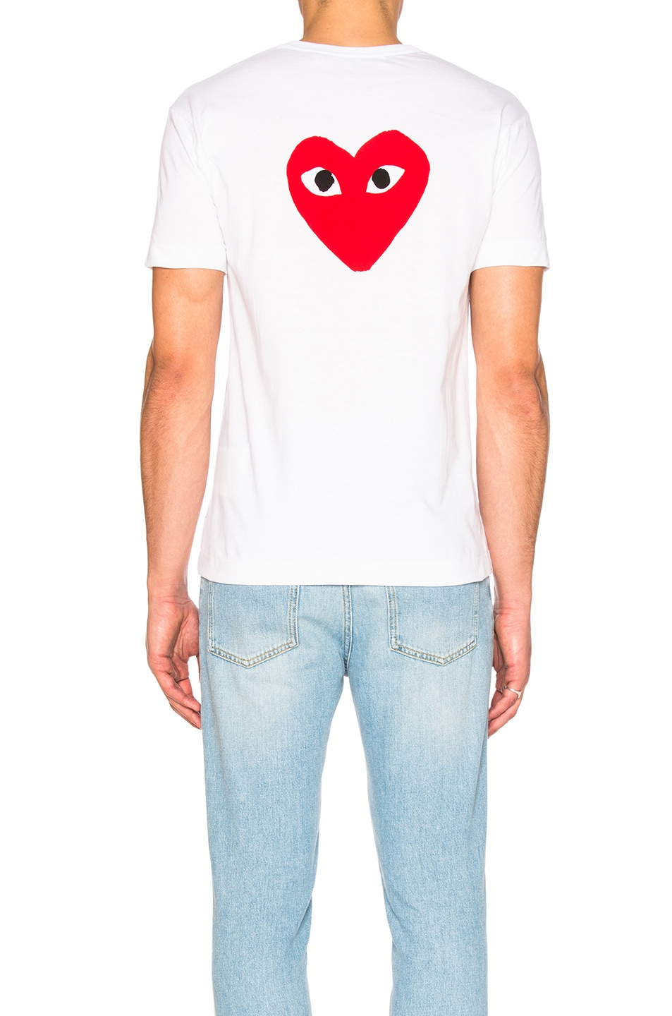 Image 5 of Comme Des Garcons PLAY Reverse Heart Tee in White