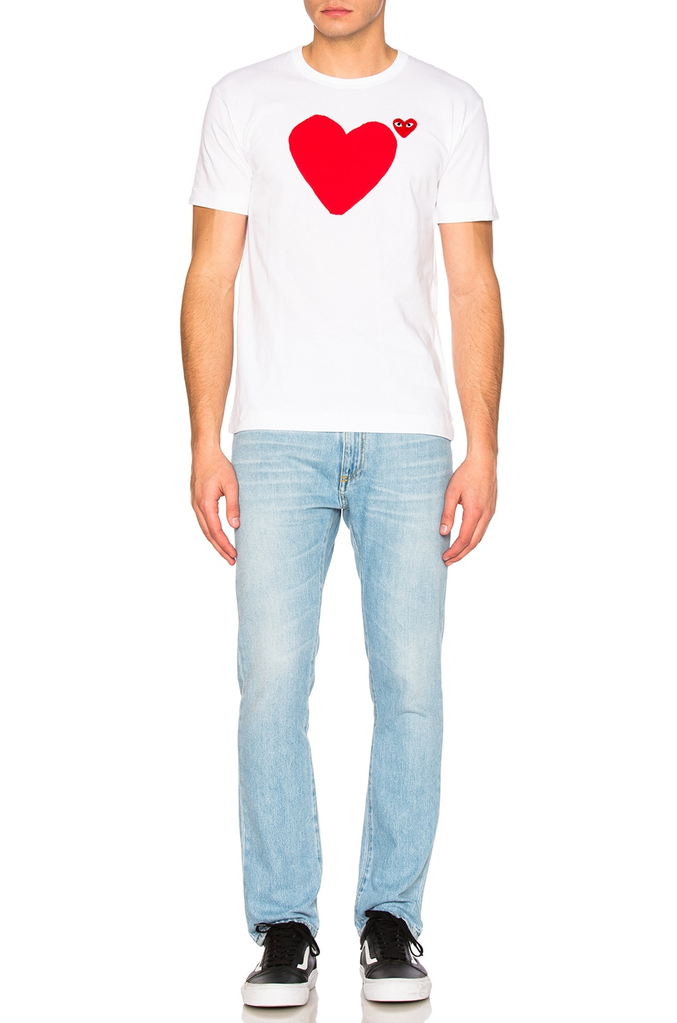 Image 6 of Comme Des Garcons PLAY Reverse Heart Tee in White