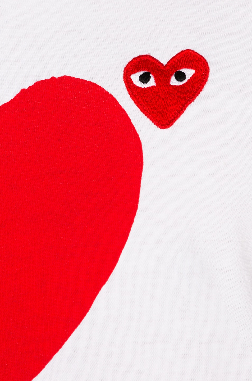 Image 7 of Comme Des Garcons PLAY Reverse Heart Tee in White