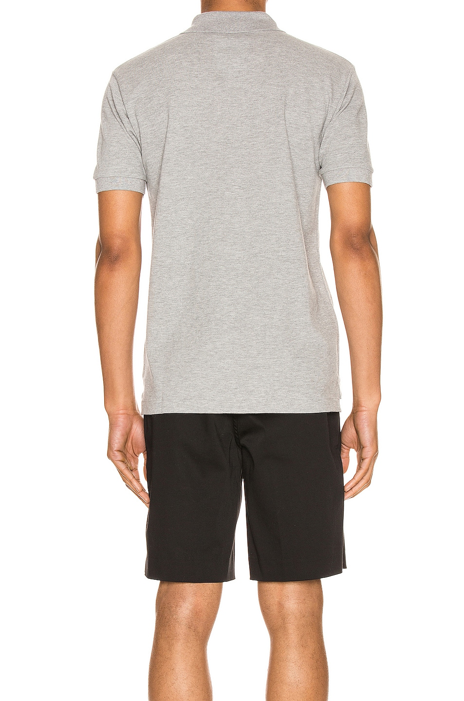 Image 3 of Comme Des Garcons PLAY Cotton Polo with Black Emblem in Grey