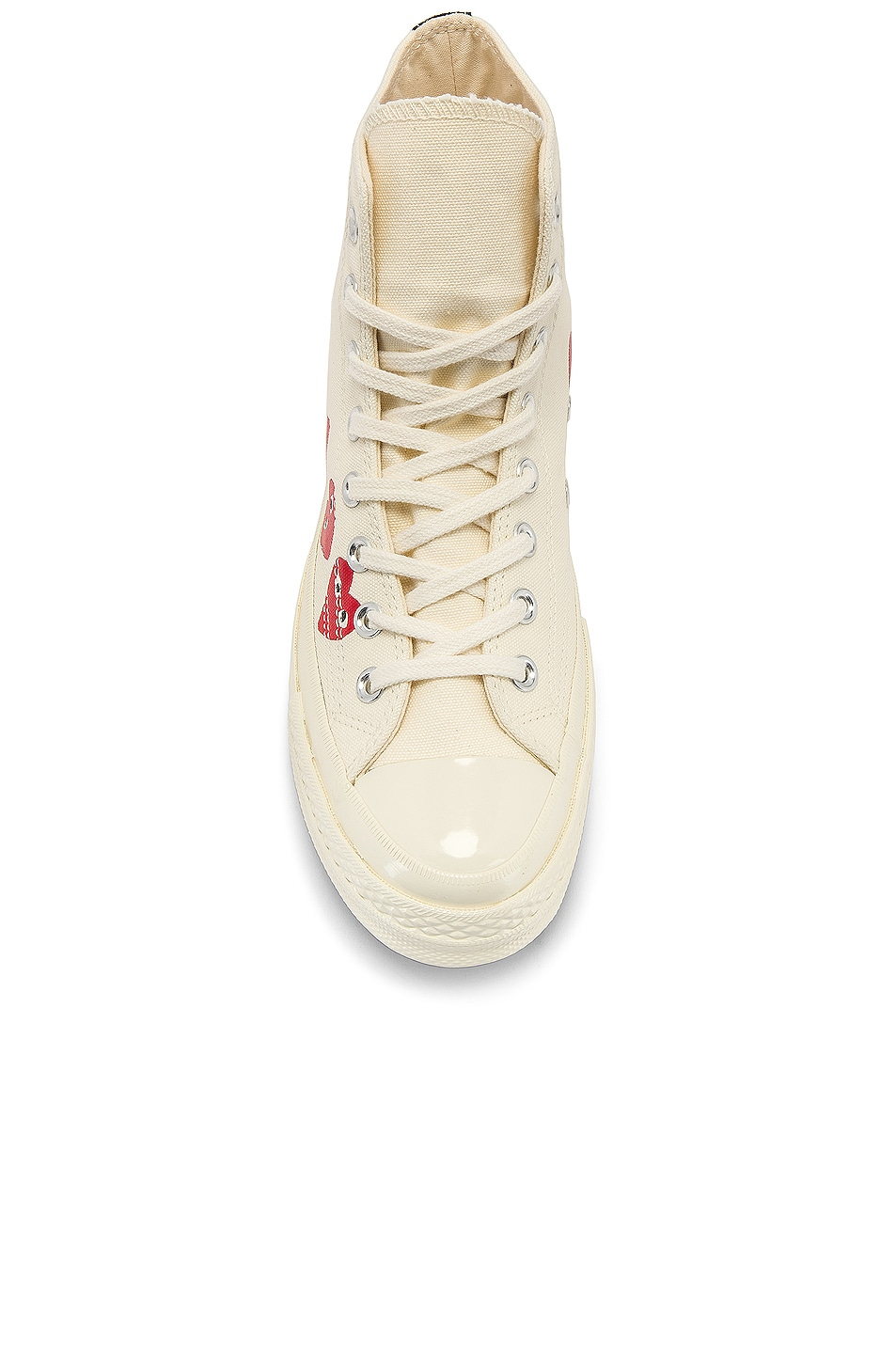 Image 4 of Comme Des Garcons PLAY Emblem Hi Top Sneaker in Off White