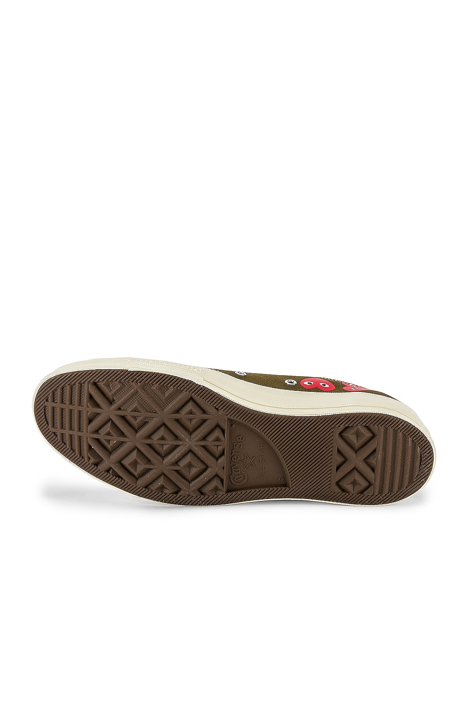 Image 6 of Comme Des Garcons PLAY Emblem Low Top Sneaker in Khaki