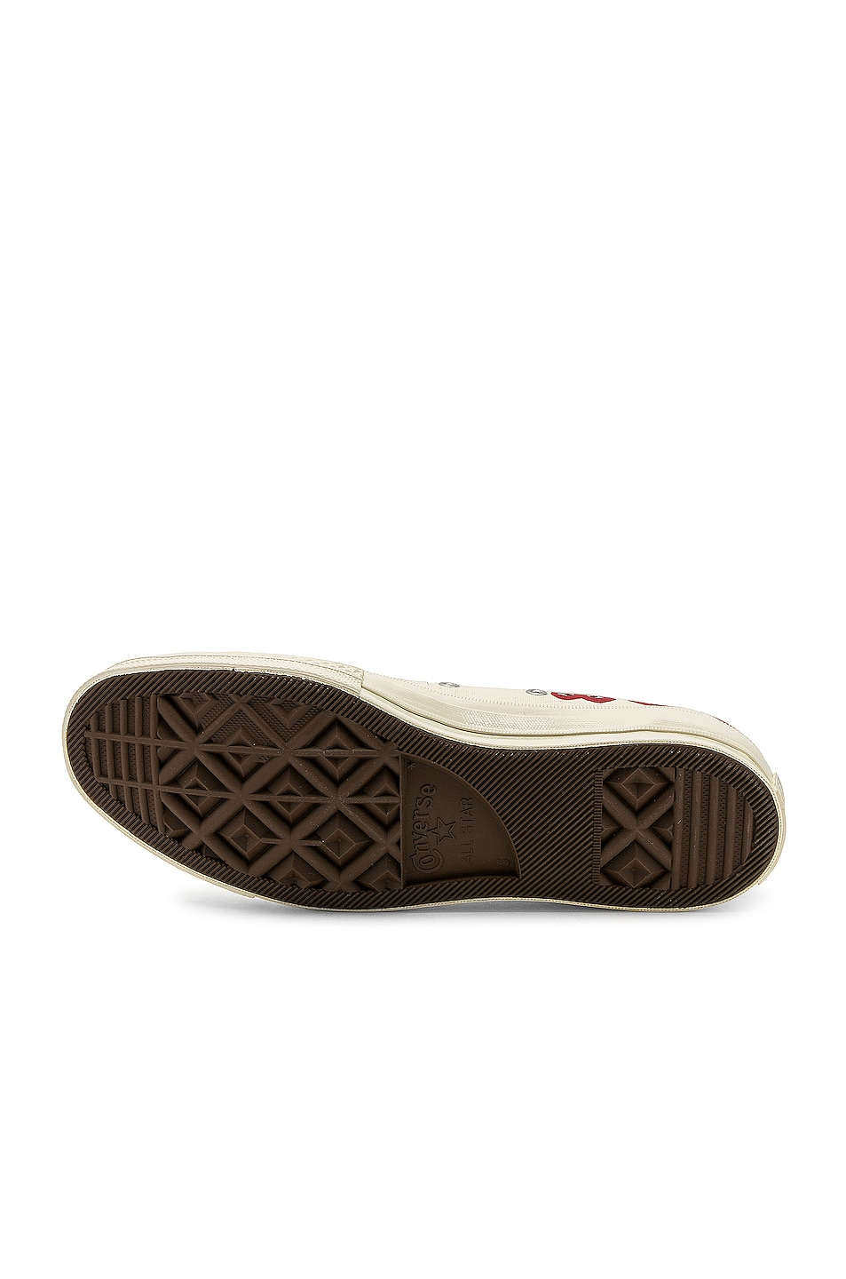 Image 6 of Comme Des Garcons PLAY Emblem Low Top Sneaker in Off White