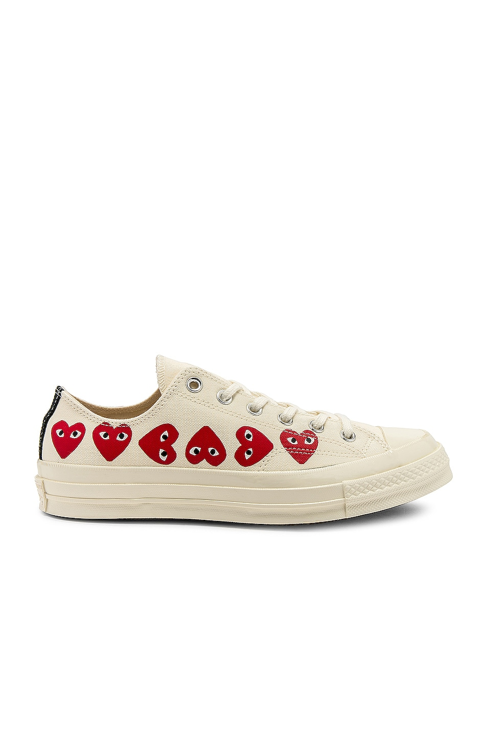 Image 1 of Comme Des Garcons PLAY Emblem Low Top Sneaker in Off White