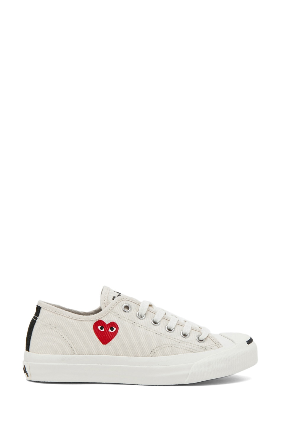 Image 1 of Comme Des Garcons PLAY Converse Jack Purcell Sneaker in Red & White