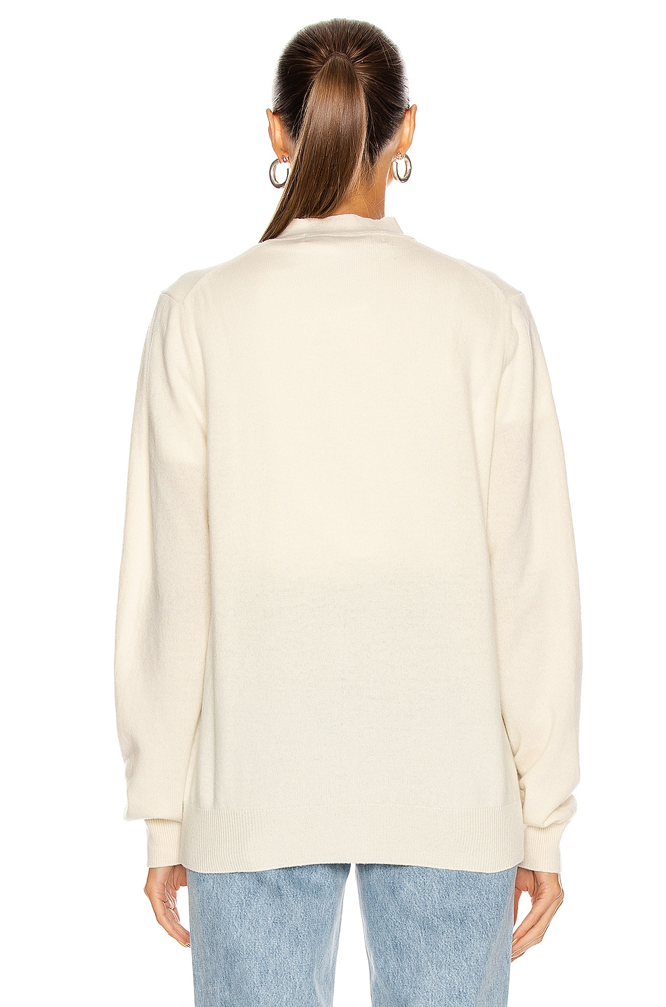 Image 4 of Comme Des Garcons PLAY White Heart Cardigan in Natural