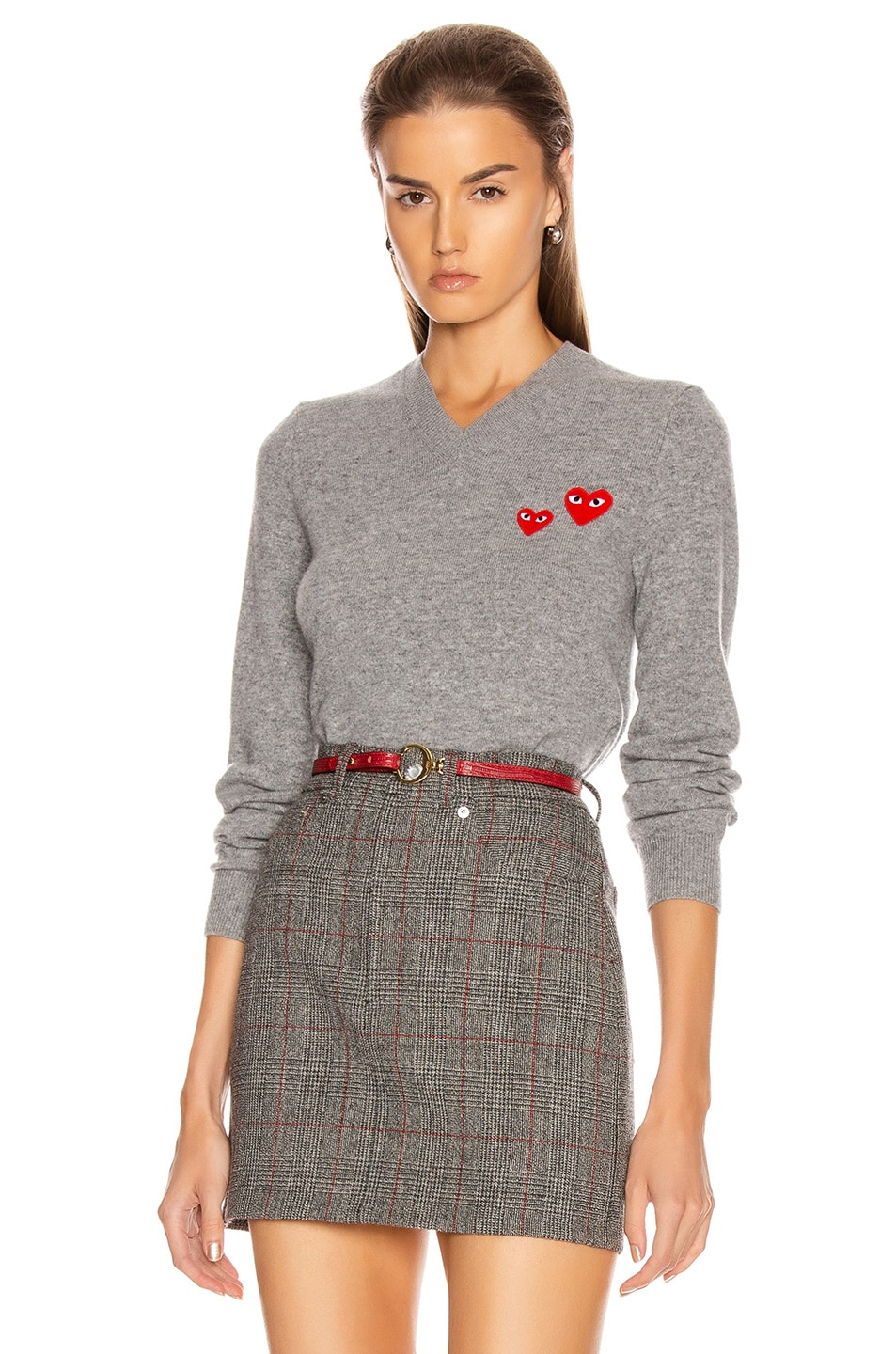 Image 1 of Comme Des Garcons PLAY Pullover in Grey