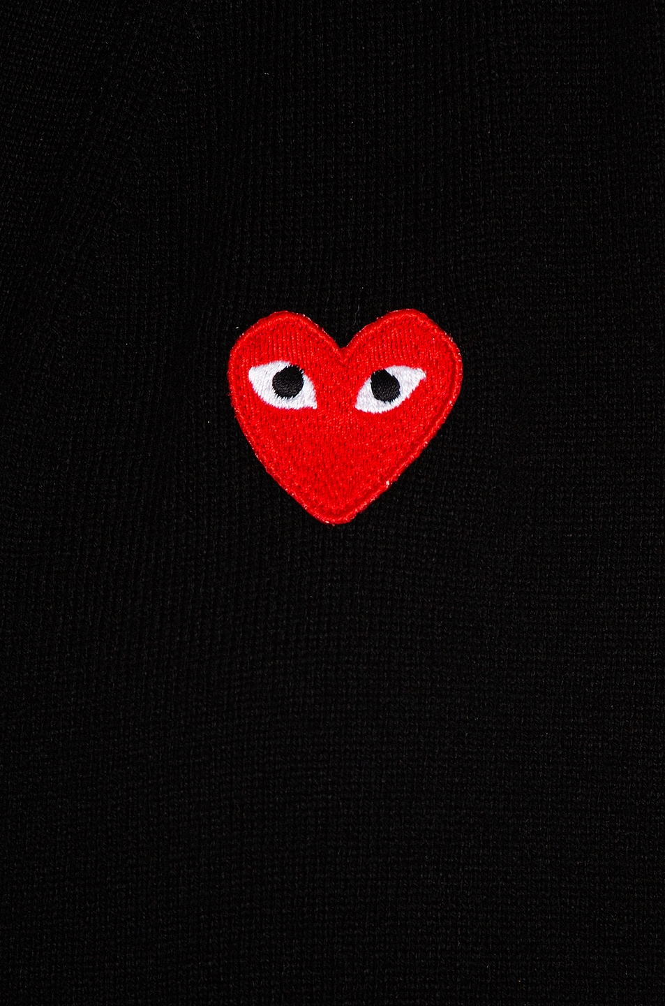 Image 5 of Comme Des Garcons PLAY Wool Red Heart Emblem Cardigan in Black