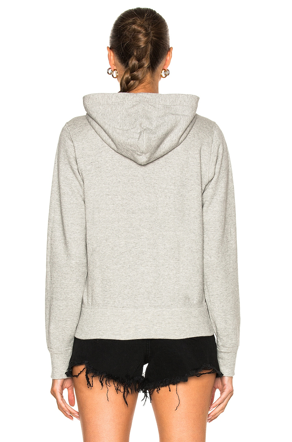 Image 5 of Comme Des Garcons PLAY Zip Up Cotton Hoodie with Red Emblem in Top Gray