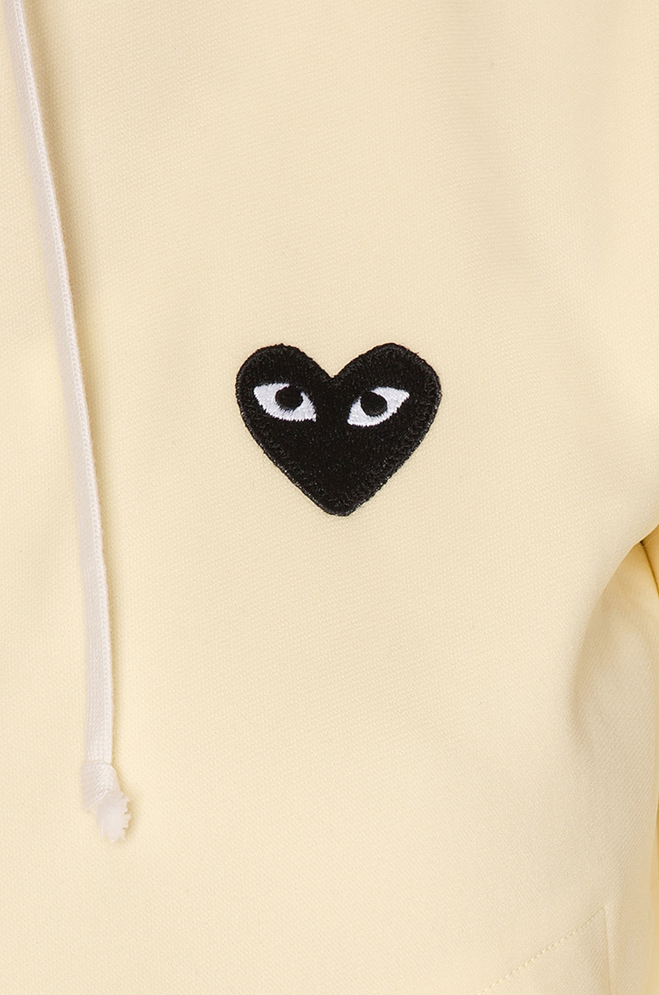 Image 7 of Comme Des Garcons PLAY Big Heart Full Zip Hoodie in Ivory
