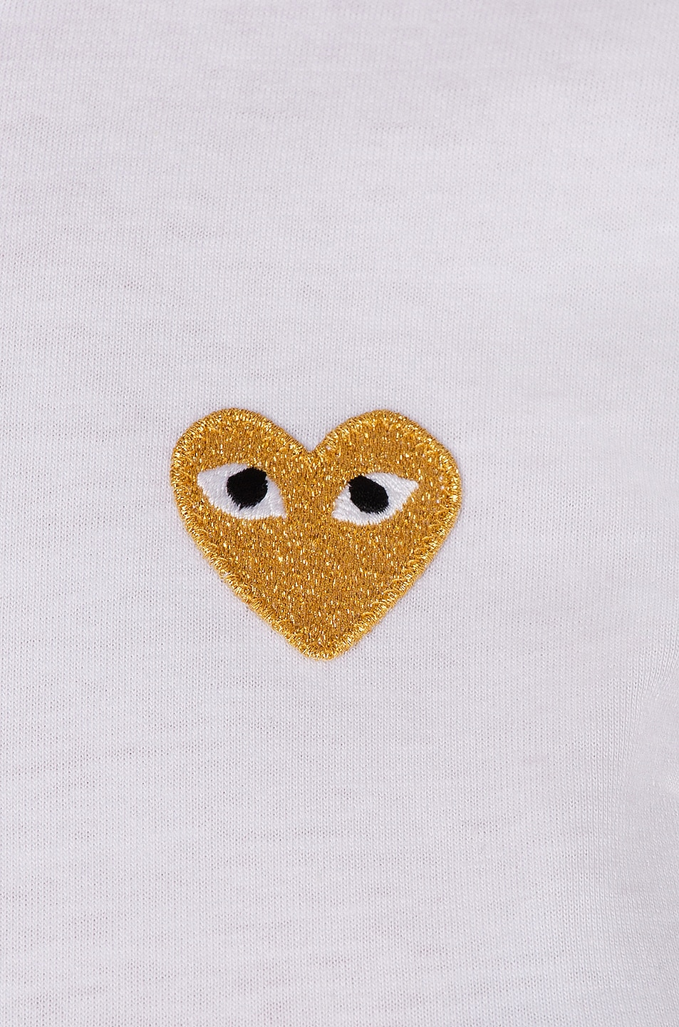 Image 5 of Comme Des Garcons PLAY Gold Heart Emblem Tee in White