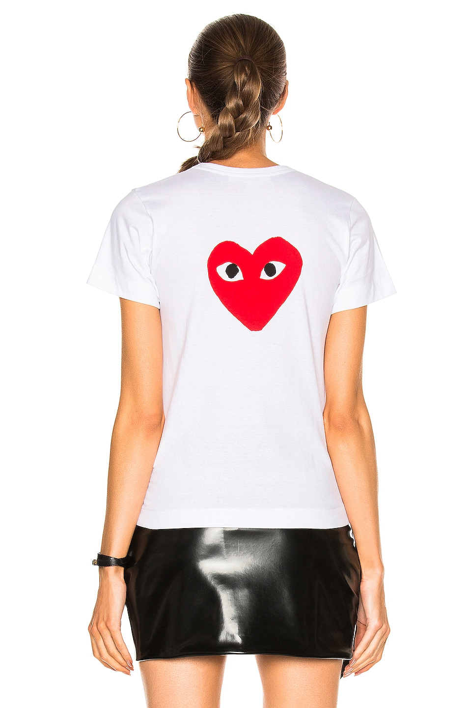Image 4 of Comme Des Garcons PLAY Reverse Heart Tee in White