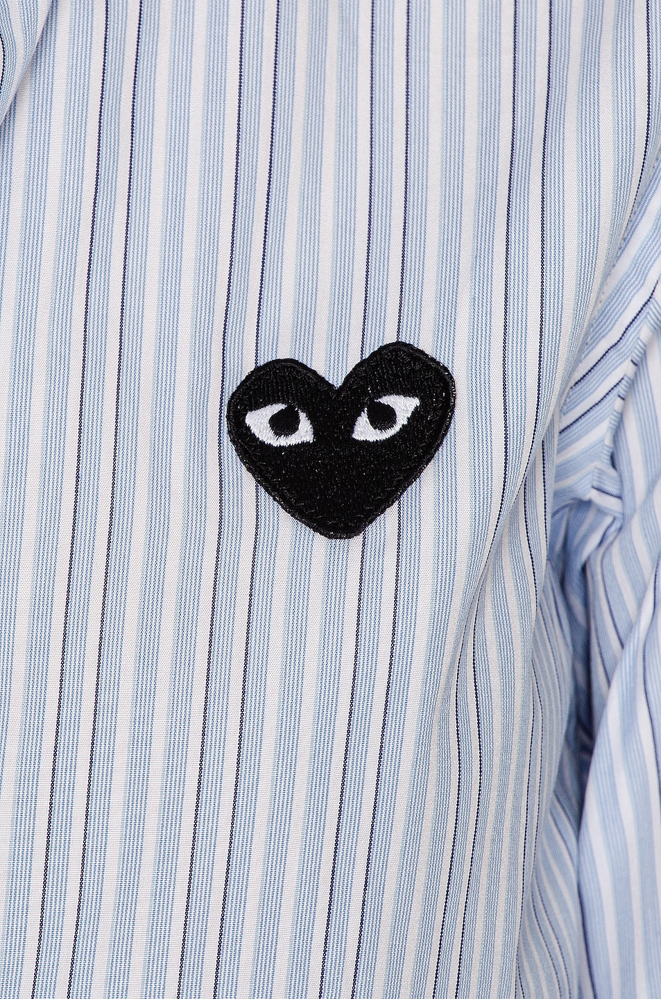 Image 6 of Comme Des Garcons PLAY Broad Stripe Cotton Button Down in Blue