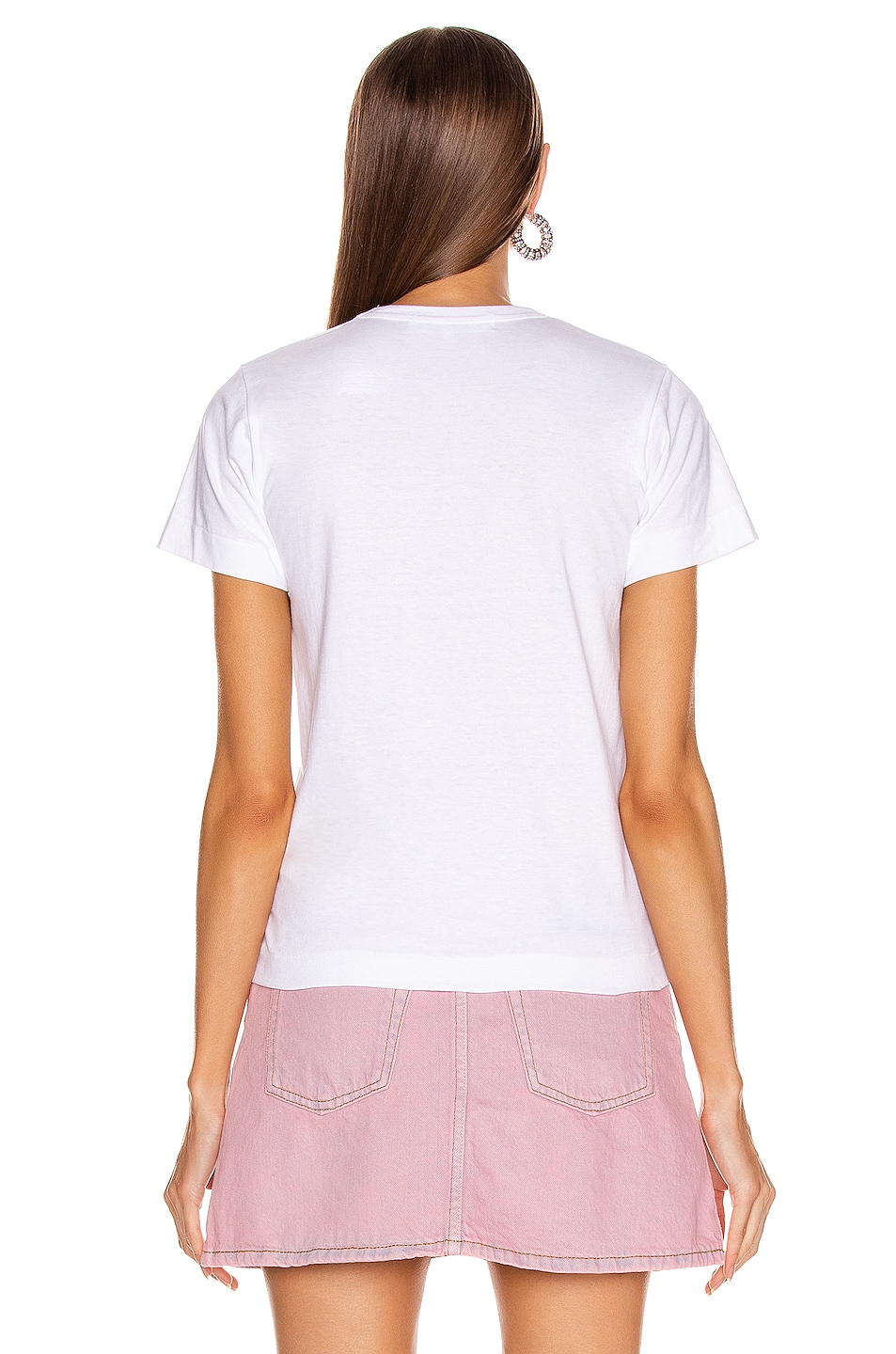 Image 3 of Comme Des Garcons PLAY Red Heart Tee in Pink