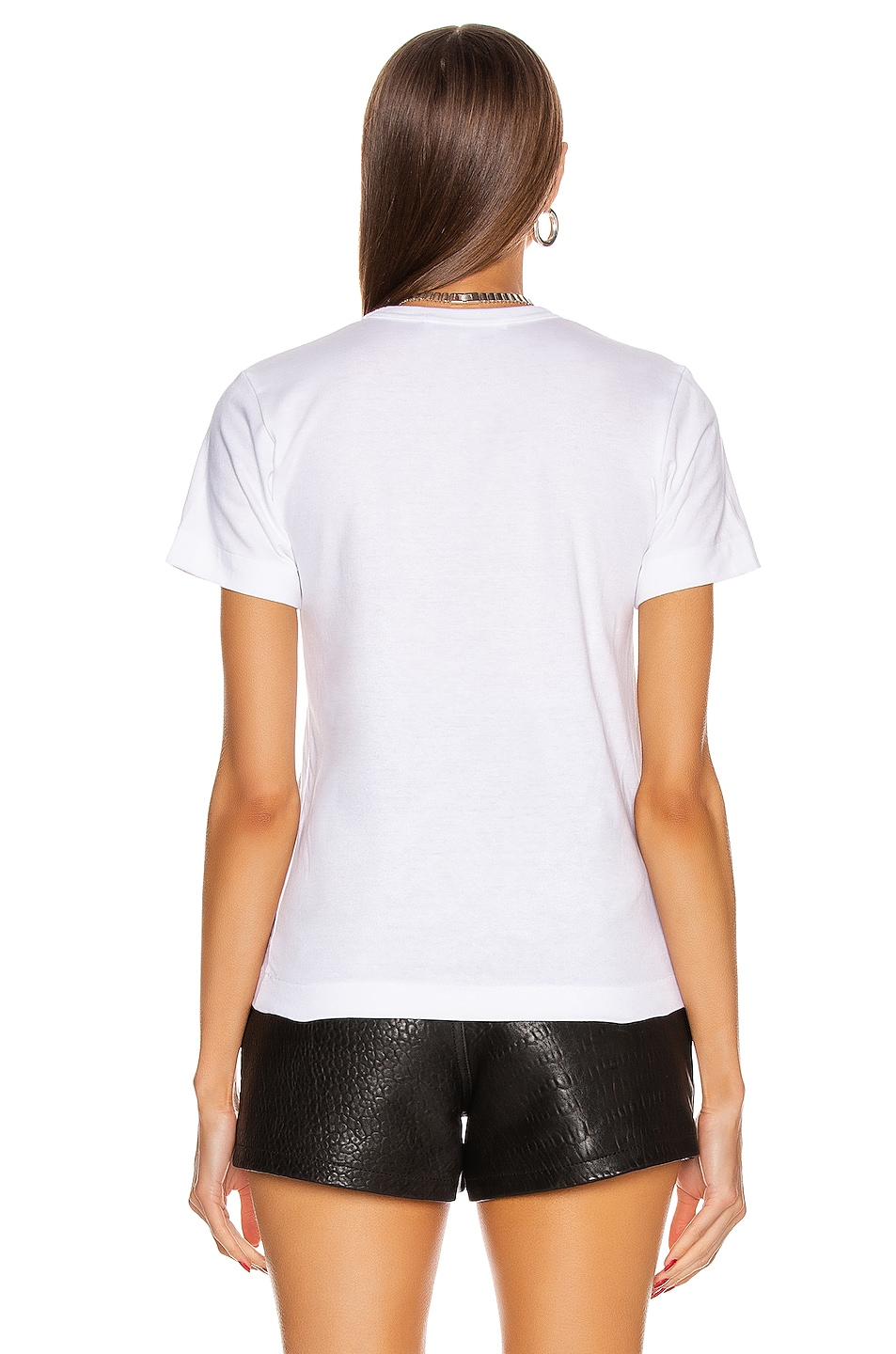 Image 3 of Comme Des Garcons PLAY Cotton Black Heart Emblem Tee in White