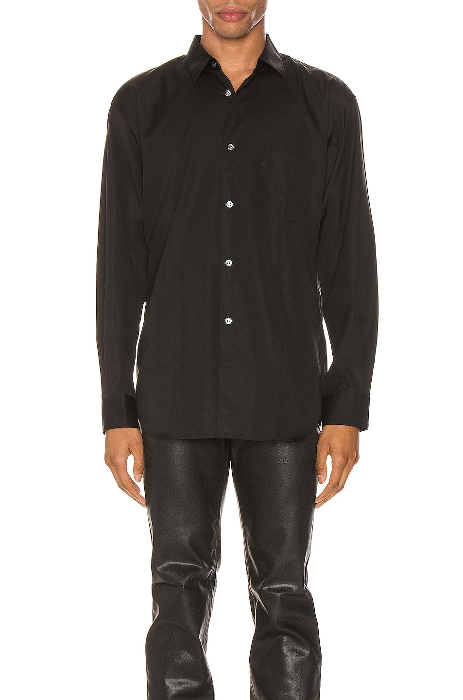 Image 1 of Comme Des Garcons SHIRT Forever Long Sleeve Shirt in Black
