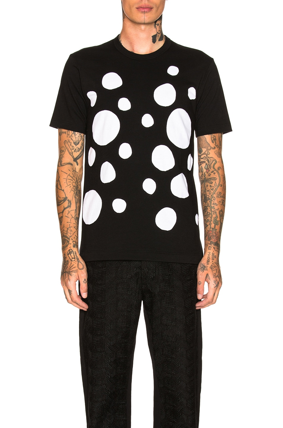 Image 1 of Comme Des Garcons SHIRT Plain Patch Tee in Black & White