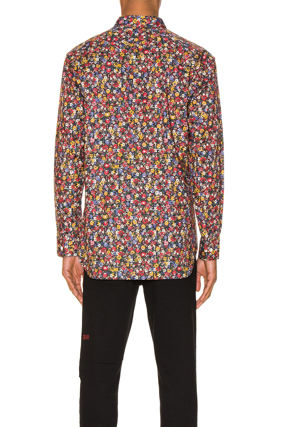 Image 3 of Comme Des Garcons SHIRT Long Sleeve Shirt in Print & Red