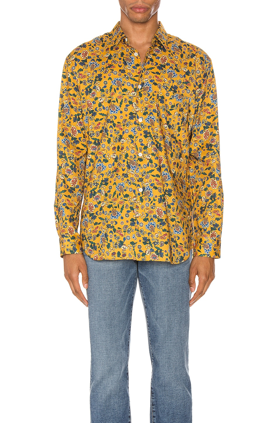 Image 1 of Comme Des Garcons SHIRT Long Sleeve Shirt in Yellow