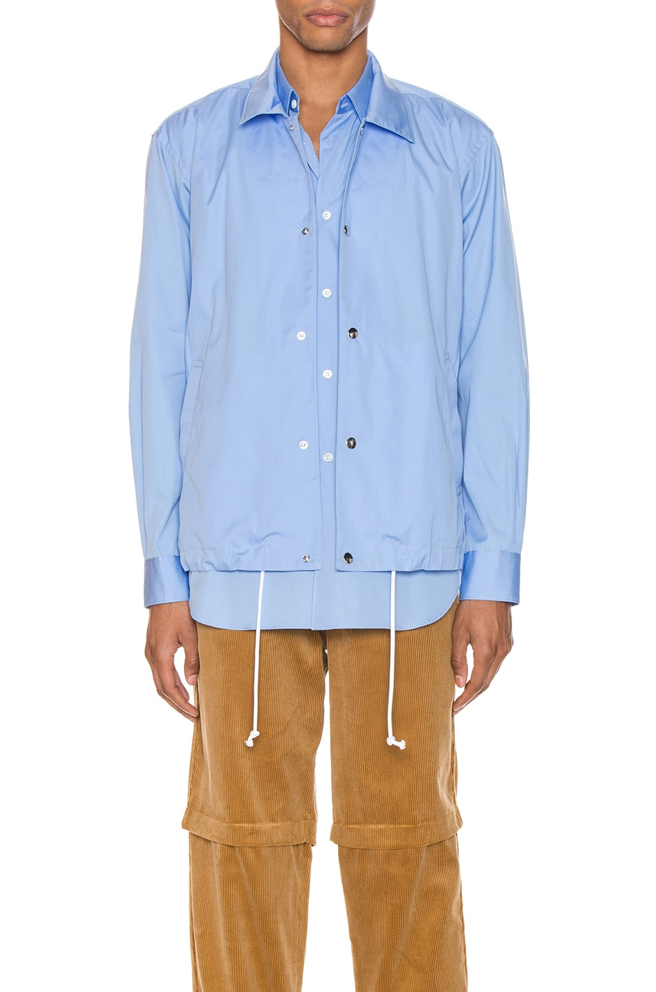 Image 1 of Comme Des Garcons SHIRT Long Sleeve Shirt in Blue