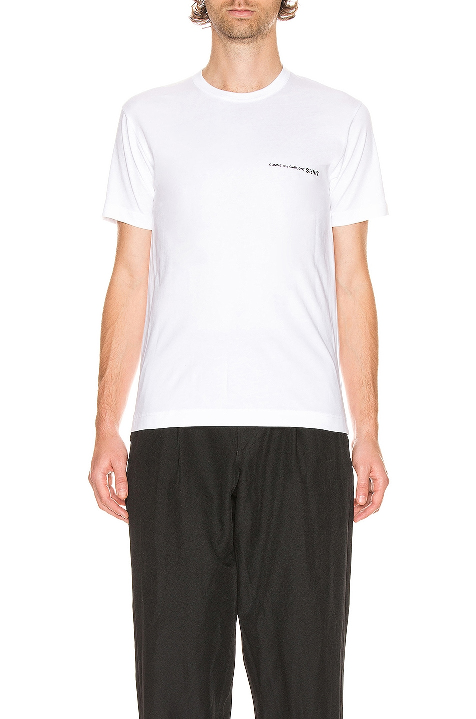Image 1 of Comme Des Garcons SHIRT Logo Tee in White
