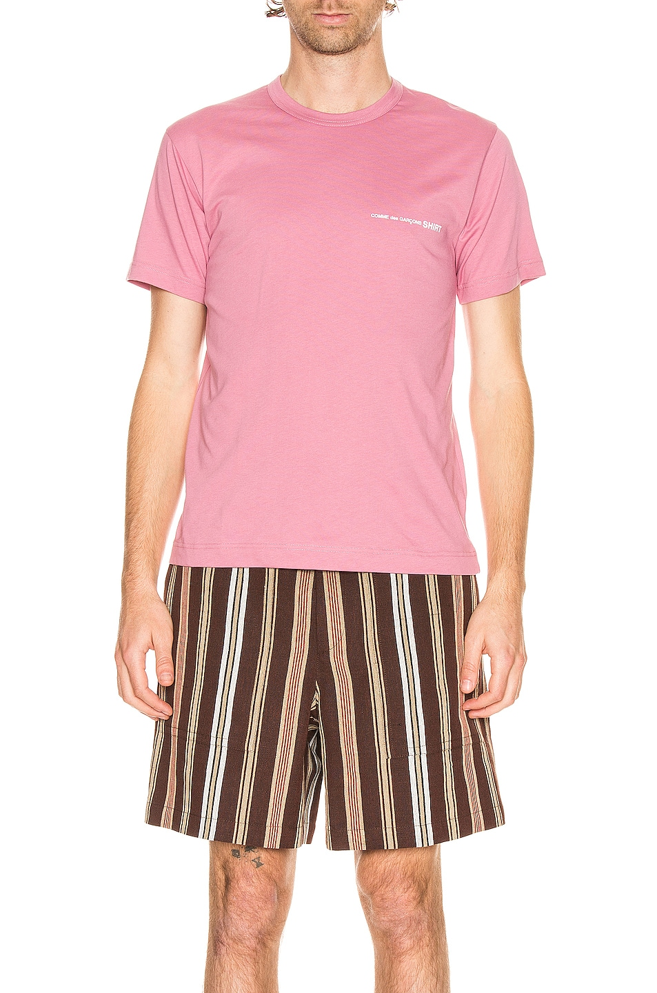 Image 1 of Comme Des Garcons SHIRT Logo Tee in Pink