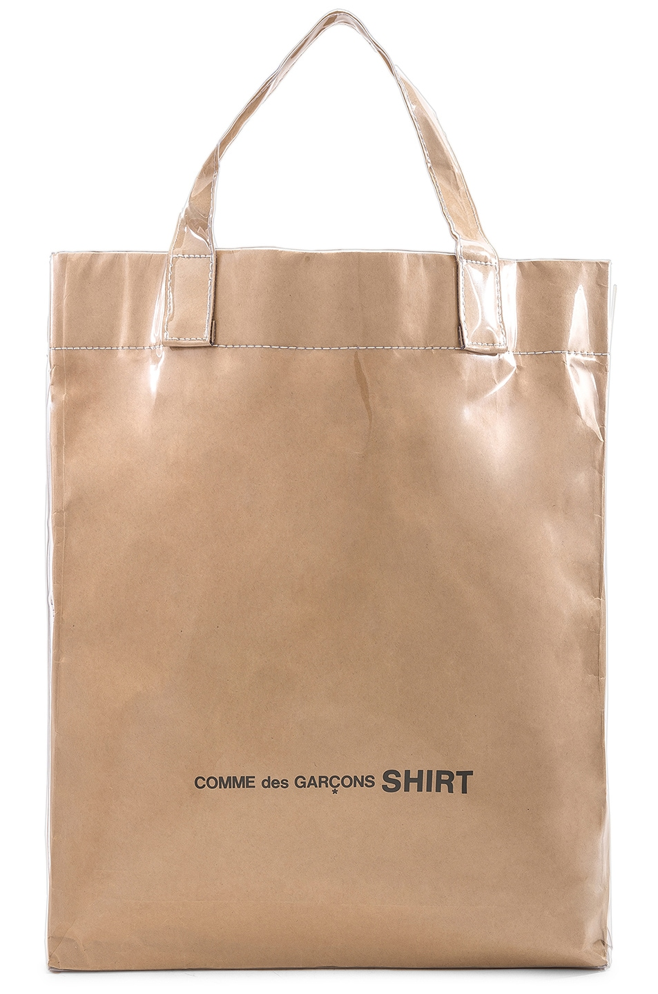Image 1 of Comme Des Garcons SHIRT PVC Messenger Tote in Kraft