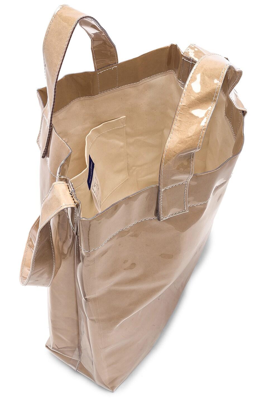 Image 4 of Comme Des Garcons SHIRT PVC Messenger Tote in Kraft