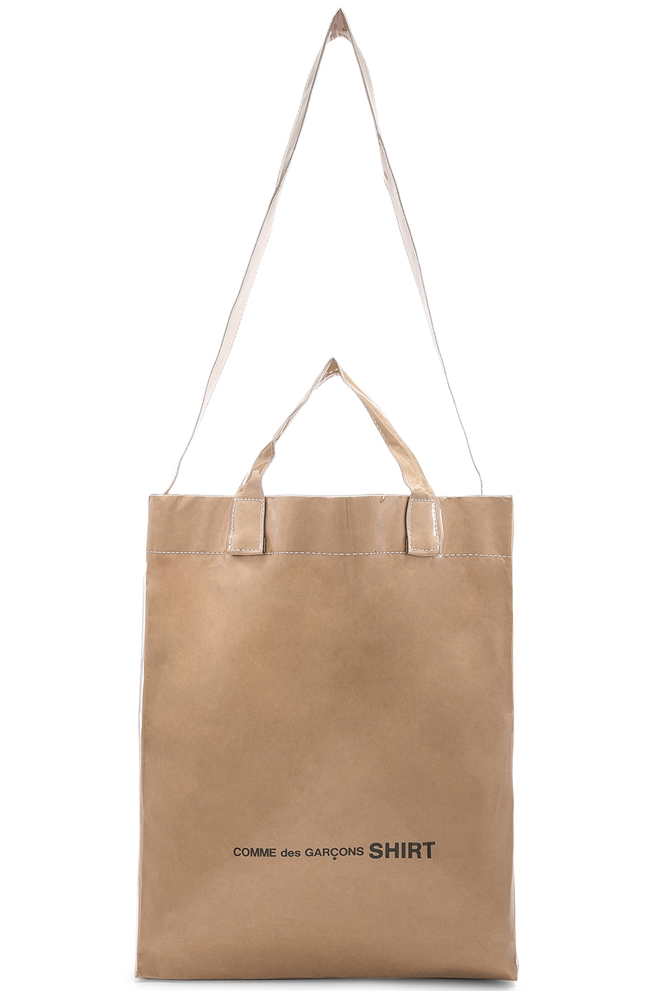Image 5 of Comme Des Garcons SHIRT PVC Messenger Tote in Kraft