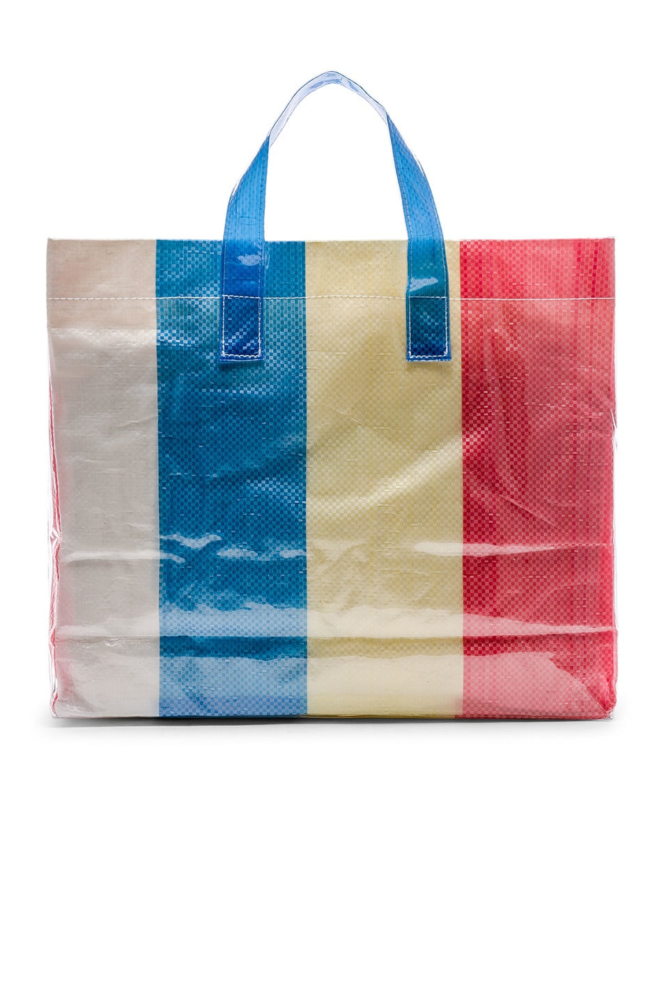 Image 2 of Comme Des Garcons SHIRT PVC Picnic Tote in Red & Yellow & Blue