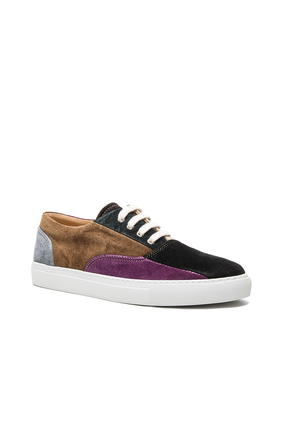 320a73bb74c9 Image 1 of Comme Des Garcons SHIRT Suede Patchwork Sneakers in Mix 1