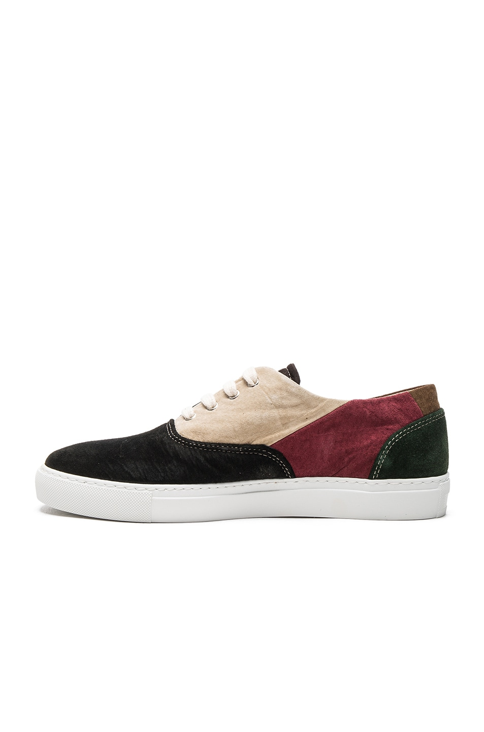 c076d01df2fc Image 5 of Comme Des Garcons SHIRT Suede Patchwork Sneakers in Mix 1