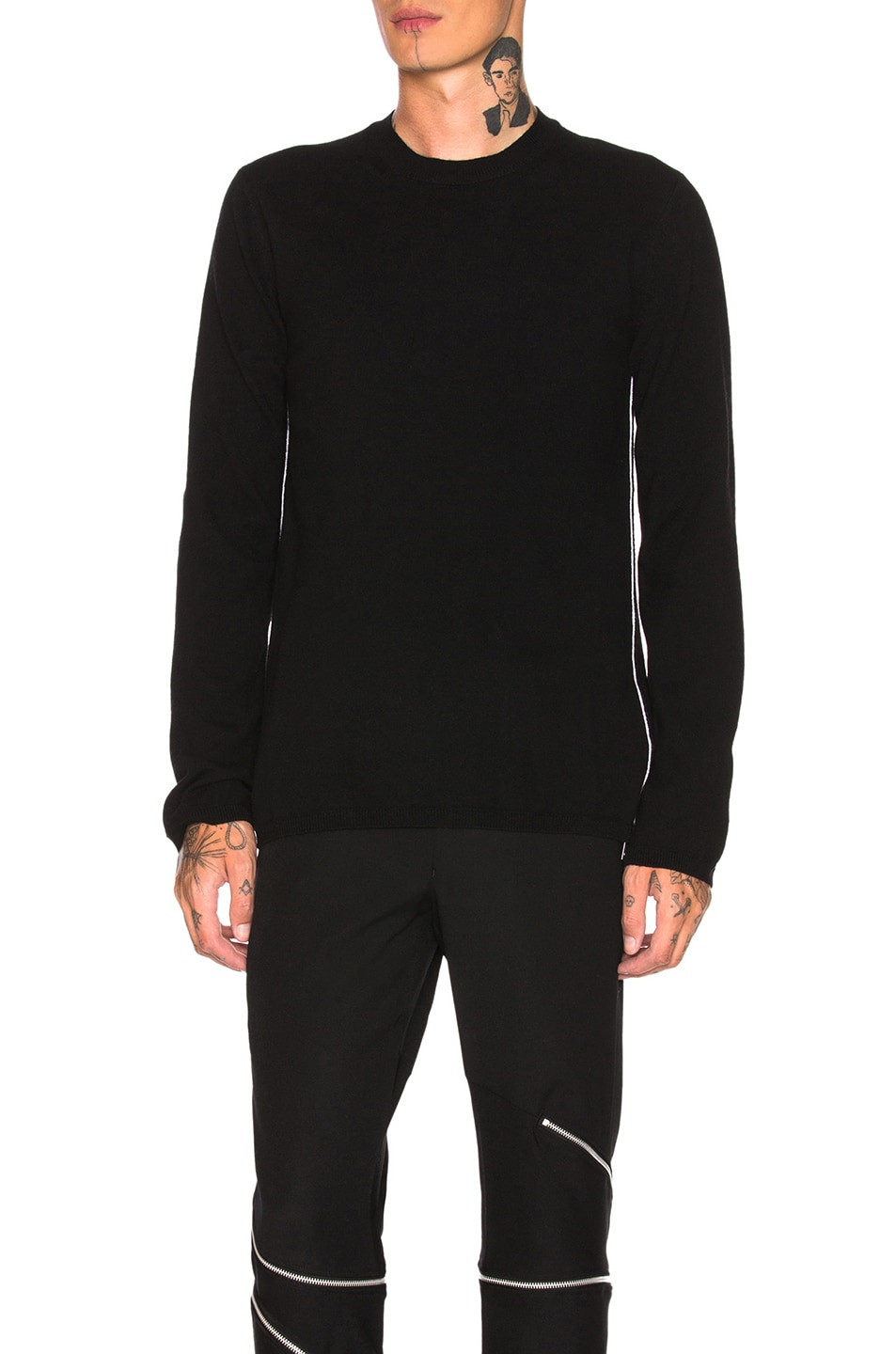 Image 1 of Comme Des Garcons Homme Plus Woolen Yarn Lamb Jersey in Black