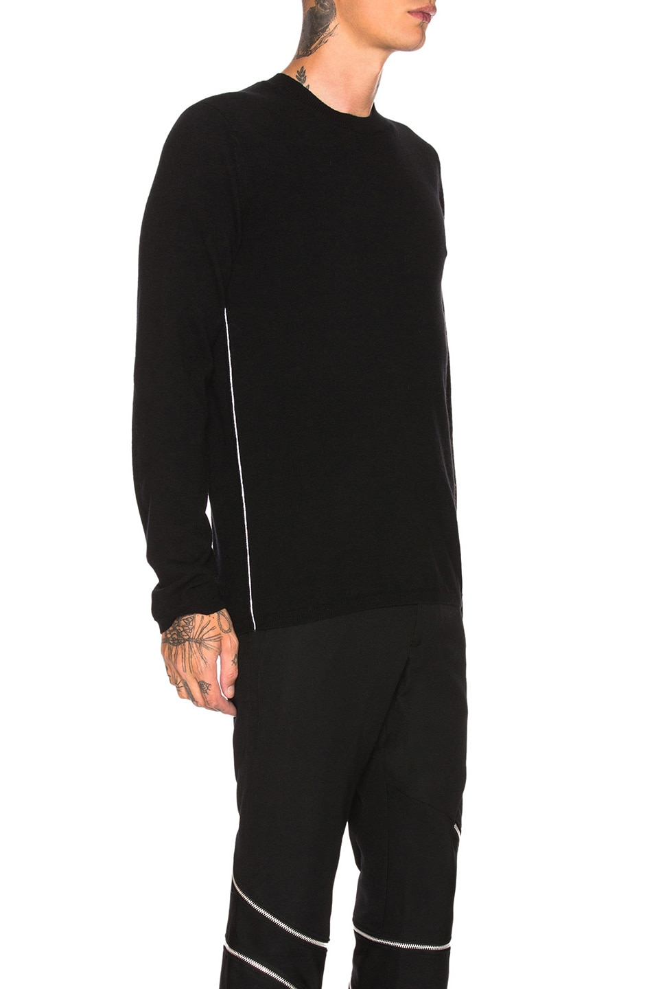 Image 2 of Comme Des Garcons Homme Plus Woolen Yarn Lamb Jersey in Black