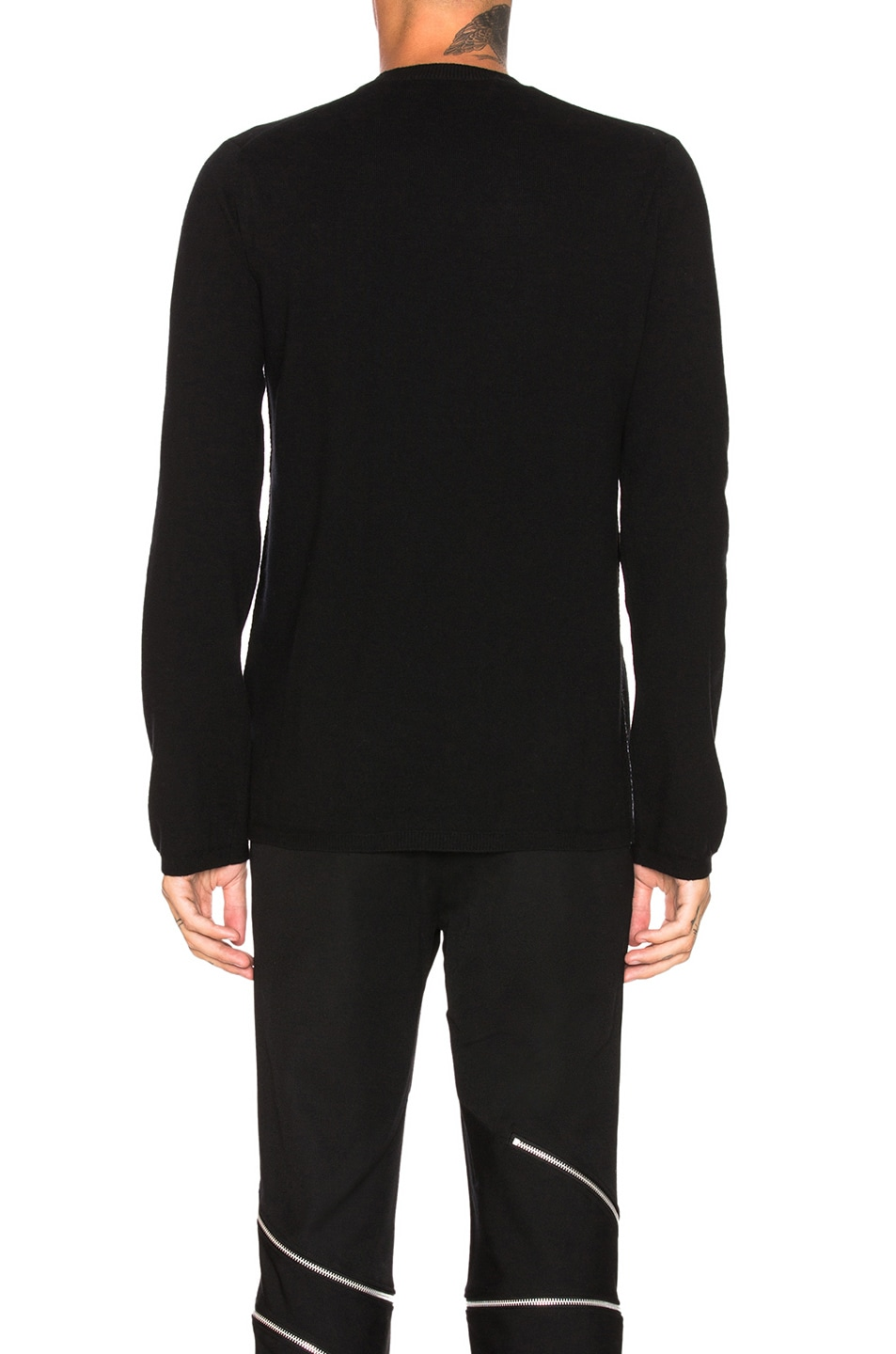 Image 3 of Comme Des Garcons Homme Plus Woolen Yarn Lamb Jersey in Black
