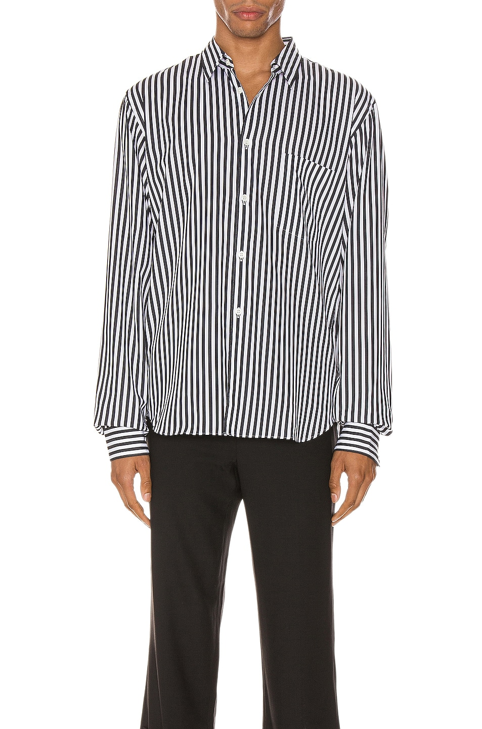 Image 1 of Comme Des Garcons Homme Plus Exaggerated Long Sleeve Shirt in H Pattern