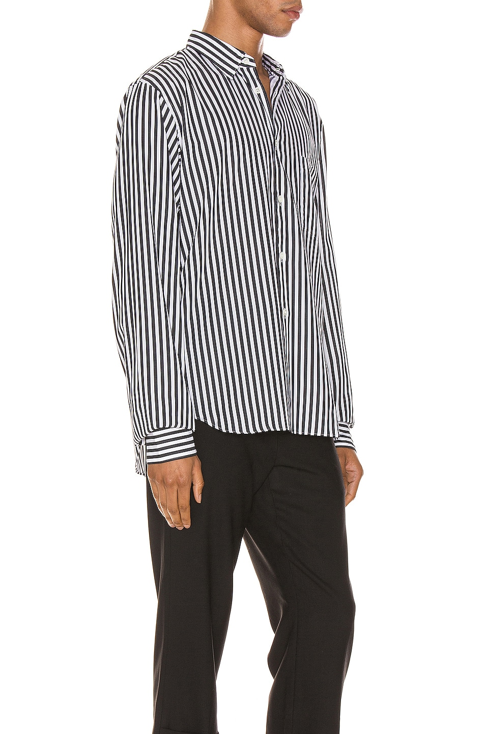 Image 2 of Comme Des Garcons Homme Plus Exaggerated Long Sleeve Shirt in H Pattern