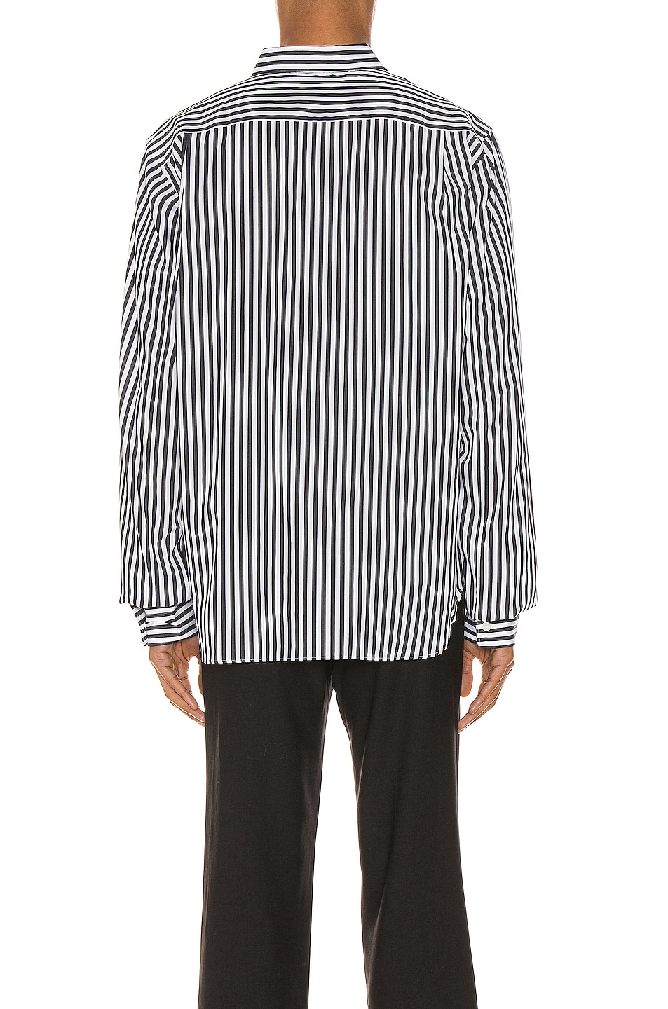 Image 3 of Comme Des Garcons Homme Plus Exaggerated Long Sleeve Shirt in H Pattern