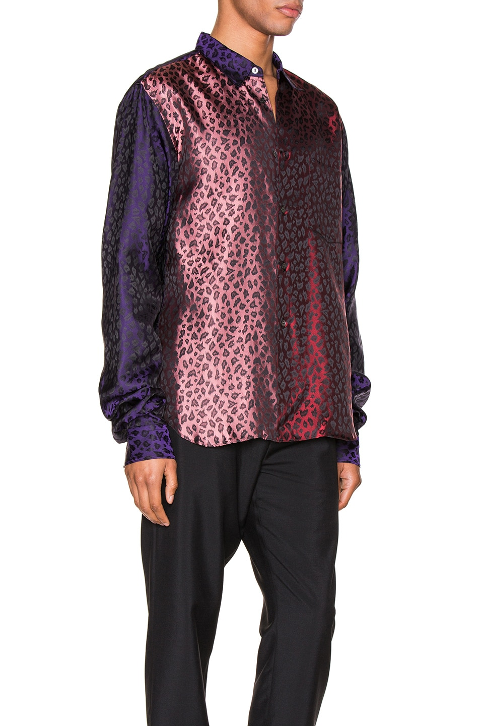 Image 2 of Comme Des Garcons Homme Plus Shirt in Purple & Red & Pink