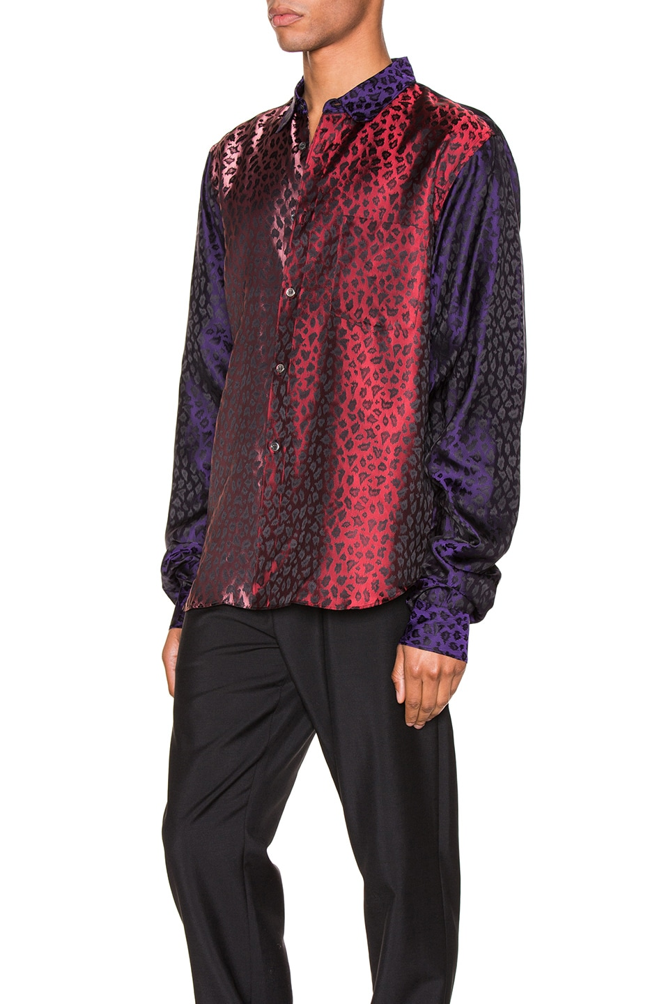 Image 3 of Comme Des Garcons Homme Plus Shirt in Purple & Red & Pink