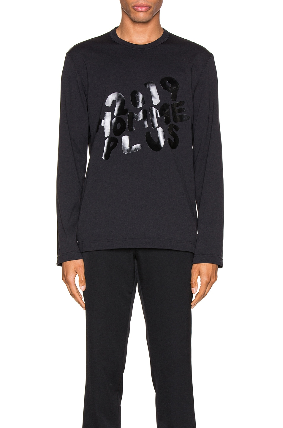 Image 1 of Comme Des Garcons Homme Plus Graphic Tee in Black