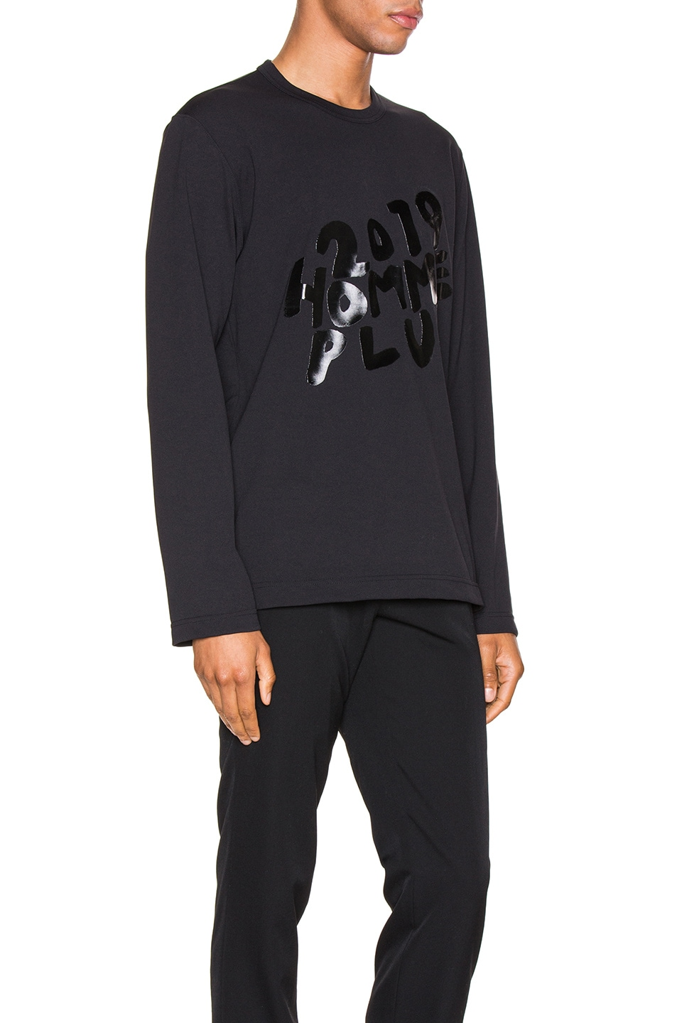 Image 2 of Comme Des Garcons Homme Plus Graphic Tee in Black