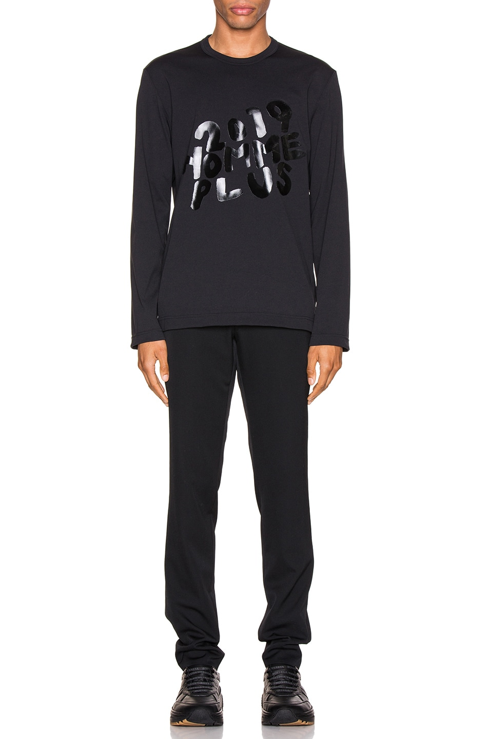 Image 4 of Comme Des Garcons Homme Plus Graphic Tee in Black
