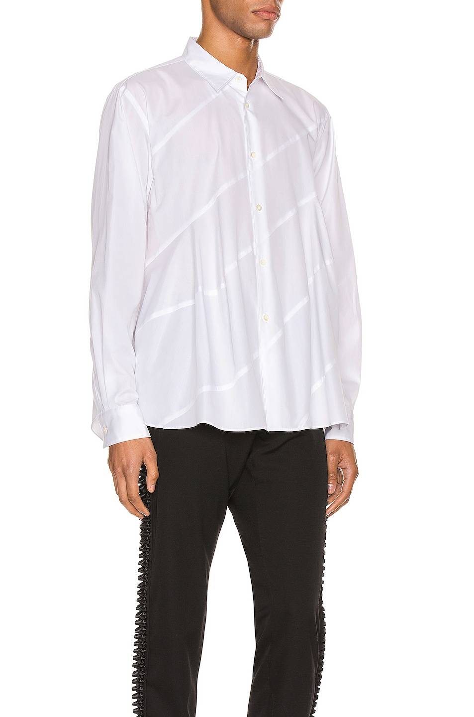 Image 2 of Comme Des Garcons Homme Plus Long Sleeve Shirt in White