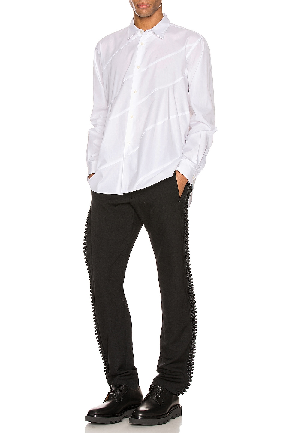 Image 4 of Comme Des Garcons Homme Plus Long Sleeve Shirt in White