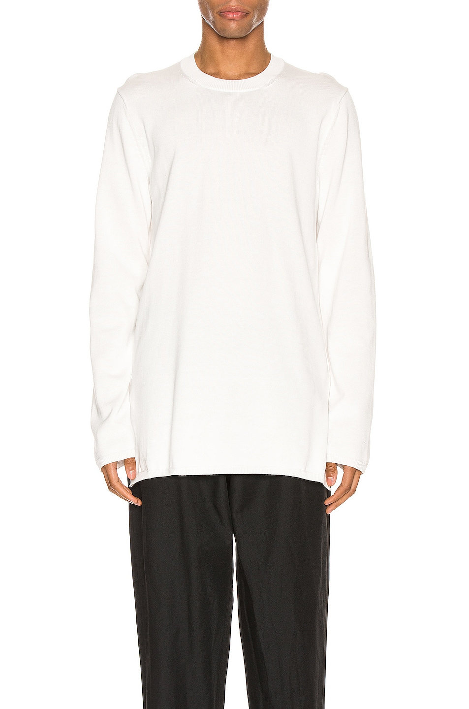 Image 1 of Comme Des Garcons Homme Plus Long Sleeve Tee in Off White