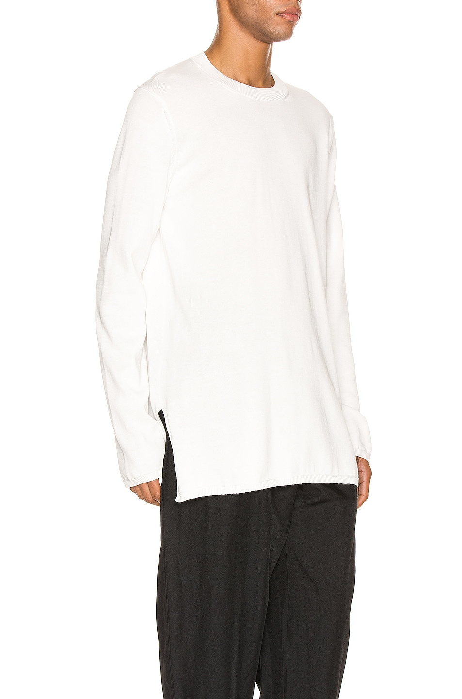 Image 2 of Comme Des Garcons Homme Plus Long Sleeve Tee in Off White