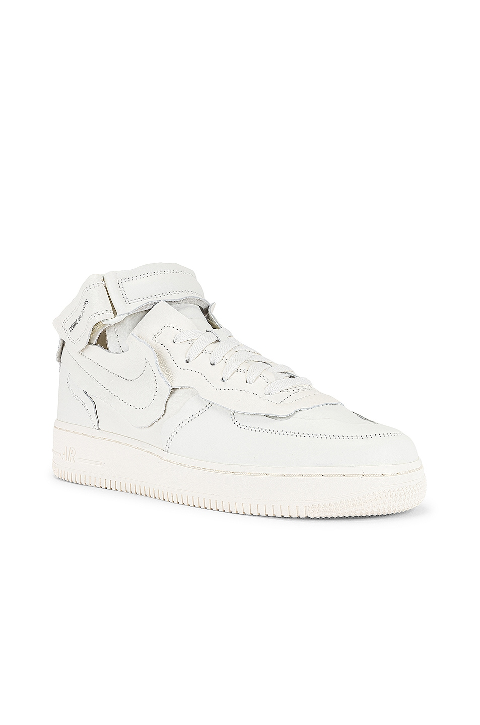 Image 1 of Comme Des Garcons Homme Plus Nike Cut Off Air Force 1 Sneaker in Off White